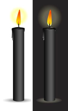 Free Black Candle Stock Photography - 18796712
