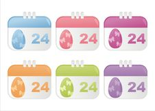 Free Easter Calendar Icons Stock Image - 18797361