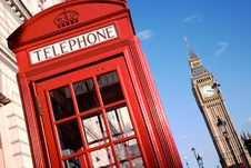 Free Big Ben And Red Phone Booth Stock Photography - 18797512