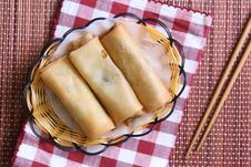 Free Egg Rolls Royalty Free Stock Photo - 18797585