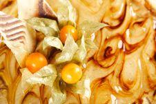 Free Closeup Of Caramel Pie Royalty Free Stock Photography - 18799037