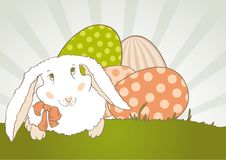 Free Easter Bunny With Egg Retro Royalty Free Stock Images - 18799479