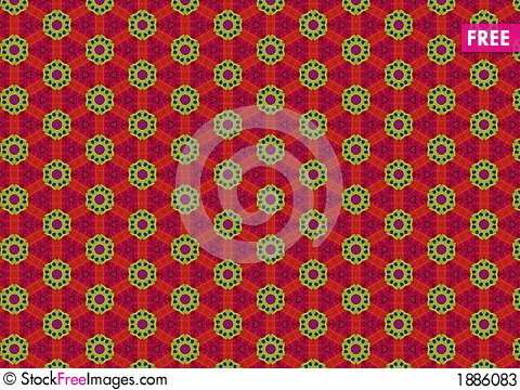 Free Tacky Green Red Circle Pattern Stock Photos - 1886083