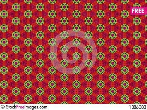 Free Tacky Green Red Circle Pattern Stock Photos - 1886083