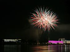 Free Fireworks Over The Danube In Linz, Austria 9 Stock Photos - 1881213