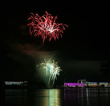 Free Fireworks Over The Danube In Linz, Austria 11 Stock Images - 1881234