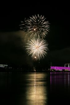 Free Fireworks Over The Danube In Linz, Austria 13 Stock Photos - 1881243