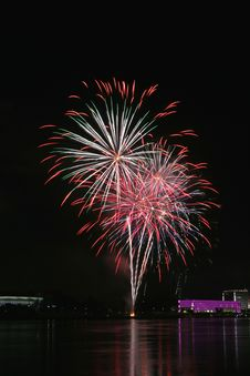 Free Fireworks Over The Danube In Linz, Austria 17 Royalty Free Stock Photos - 1881278