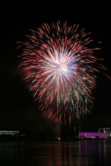 Free Fireworks Over The Danube In Linz, Austria 18 Stock Photography - 1881282