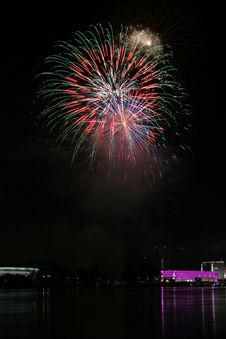 Free Fireworks Over The Danube In Linz, Austria 19 Royalty Free Stock Photos - 1881288