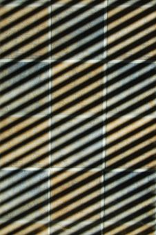 Shadow On Tiles Stock Image
