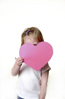 Free Little Girl With Valentine Royalty Free Stock Photo - 1883395