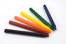 Free Six Crayons Royalty Free Stock Photo - 1884315