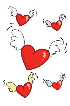 Free Hearts Flying 02 Stock Photography - 1884832