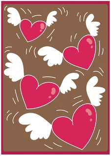Free Hearts Flying 04 Royalty Free Stock Image - 1884846