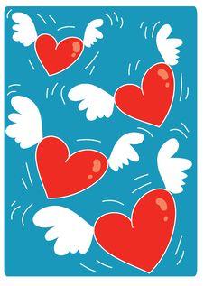 Free Hearts Flying 05 Royalty Free Stock Photos - 1884868