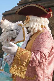 Mask Of Carnival Of Venice Royalty Free Stock Photography
