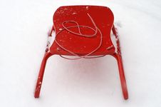 Free Red Sledge Stock Image - 1885501