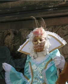 Mask Of Carnival Of Venice Stock Image