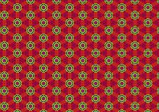 Tacky Green Red Circle Pattern Stock Photos