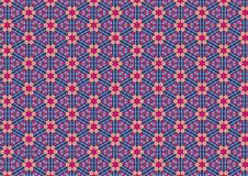 Free Ugly Blue Retro Floral Pattern Stock Photography - 1886092