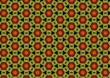 Khaki Green Black Red Pattern Stock Images