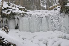 Free Frozen Falls Stock Image - 1886171