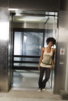 Free Walking Out Of Elevator 02 Royalty Free Stock Photos - 1886438