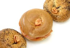 Free Smoked Salmon Bagels Royalty Free Stock Photos - 1887318