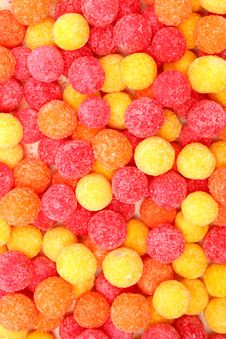 Round Sugar Sweets Of Red And Yellow Color Royalty Free Stock Photos