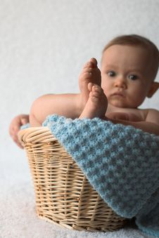 Free Basket Baby Royalty Free Stock Image - 1888476