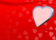 Free Heart_3D_background Royalty Free Stock Images - 1888759