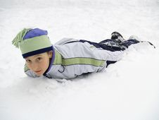 Free Kid In Snow Stock Image - 1889141