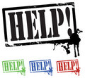 Free Help Stamp Stock Photography - 18800812