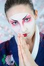Free Japan Geisha Woman With Creative Make-up. Stock Images - 18800954