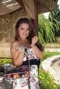 Free Cheerful Glamor Summer Girl Stock Images - 18804104