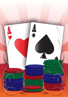 Free Illustrated Aces Royalty Free Stock Image - 18800136