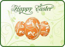 Free Easter Set Eggs On Floral Background Stock Images - 18800444