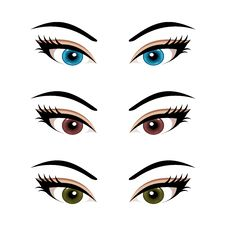 Set Female Eyes Isolated &x28;3&x29; Royalty Free Stock Photography