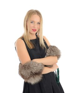 Free Beautiful Woman In Elegant Animal Fur Jacket. Royalty Free Stock Photos - 18800848