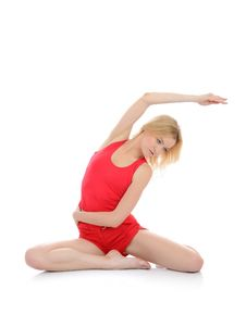 Free Beautiful Fitness Woman Stretching Stock Photography - 18800892