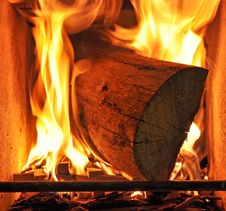 Free Fireplace Royalty Free Stock Photography - 18801107