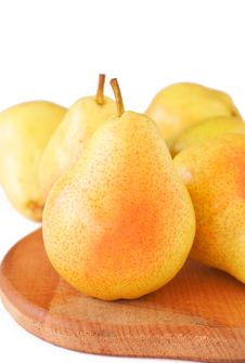 Free Ripe Yellow Pears Stock Images - 18801684