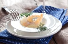Free Prawns And Salad Cream Stock Photography - 18801812