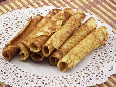 Free Home Wafer Tubules Royalty Free Stock Photography - 18802507