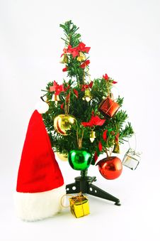 Free Christmas Tree And Helmet Royalty Free Stock Photos - 18804418