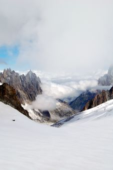 Free Looking The Clouds From The Mont Blanc Stock Photo - 18805490