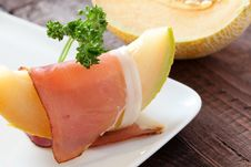 Fresh Melon And Ham Royalty Free Stock Images