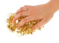 Free Golden Rings Covered By A Hand Stock Images - 18806524