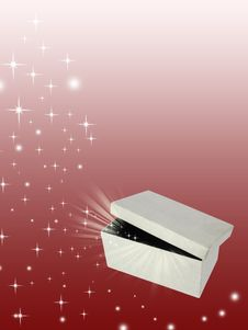 Open Magic Gift Box Royalty Free Stock Image
